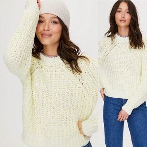 Wilfred Cropped Yellow Sweater Sz:Small